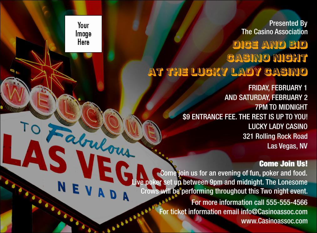 Vegas themed Invitation Templates Elegant Las Vegas Casino Invitation