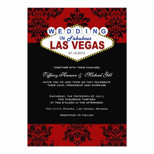 Vegas themed Invitation Templates Elegant Viva Las Vegas Wedding Invitation