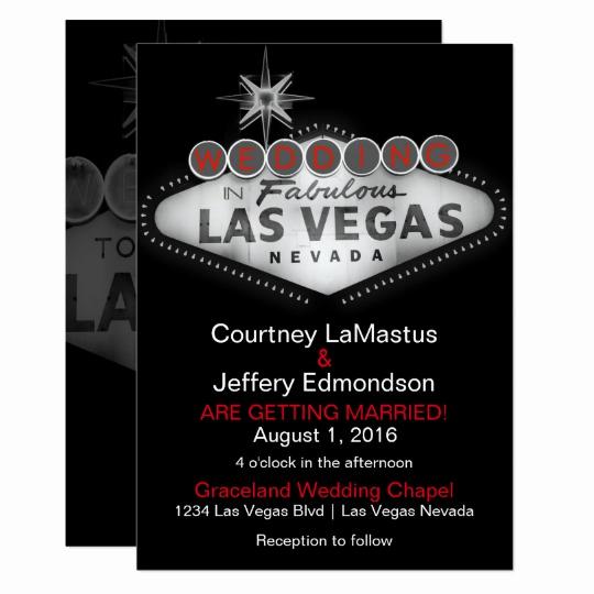 Vegas themed Invitation Templates Fresh Las Vegas Destination Wedding Invitation