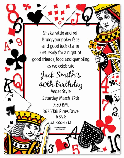 "Vegas themed Invitation Templates Fresh Playing Cards Stationery 8 5x11"" Pack Of 100 Sheets"