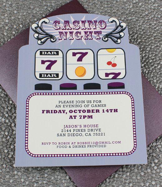 Vegas themed Invitation Templates Fresh Slot Machine Casino Night Invitation Template
