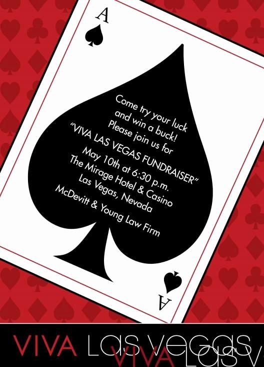Vegas themed Invitation Templates Lovely Casino Birthday Party Invitations