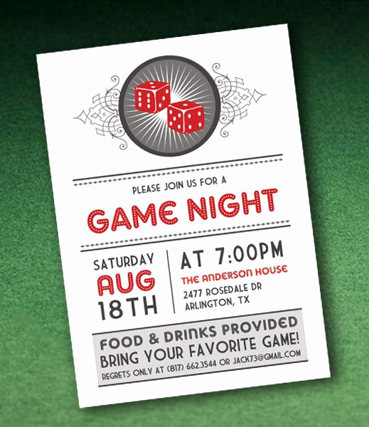 Vegas themed Invitation Templates Lovely Diy Casino Night Invitation Template with Dice From