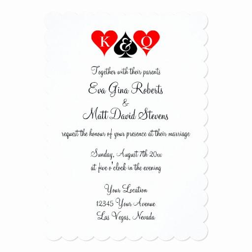 Vegas themed Invitation Templates Lovely Las Vegas Wedding theme Invitations Custom Invites