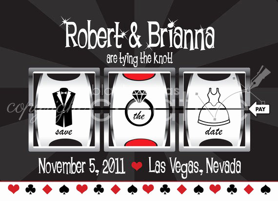 Vegas themed Invitation Templates Lovely Save the Date Casino Vegas themed Printable