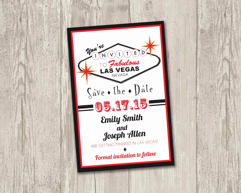 Vegas themed Invitation Templates Luxury Las Vegas Save the Date Printable Las Vegas theme