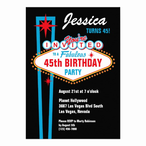 Vegas themed Invitation Templates Luxury Personalized Las Vegas Party Invitations
