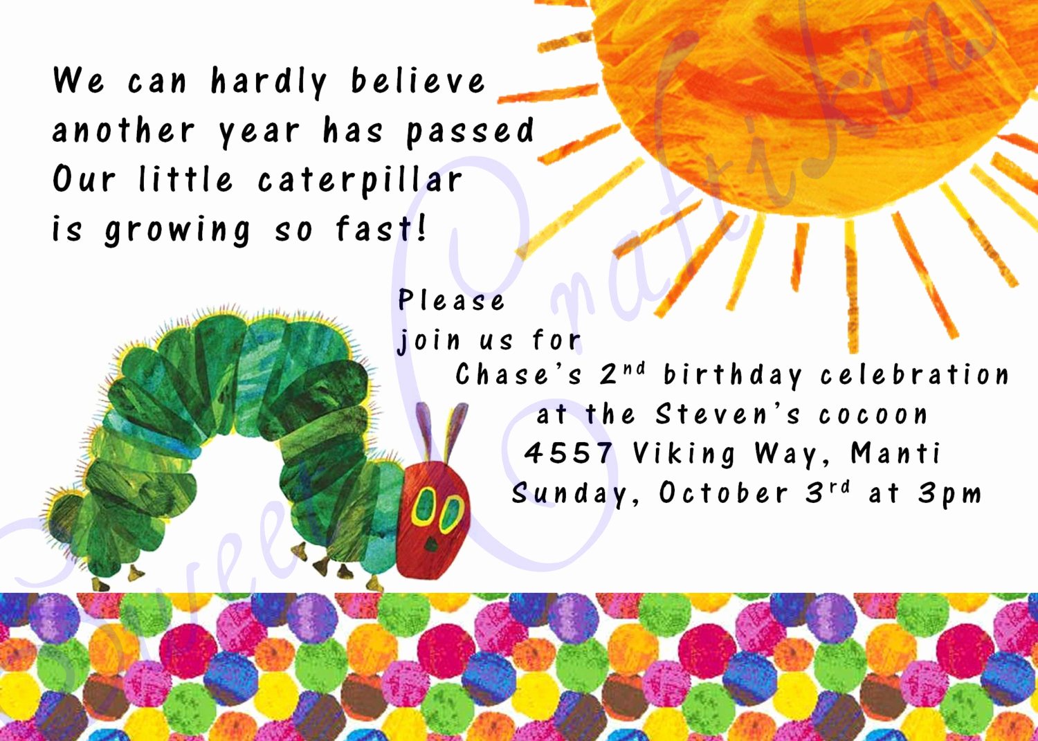 Very Hungry Caterpillar Invitation Template Fresh Very Hungry Caterpillar Invitations Template