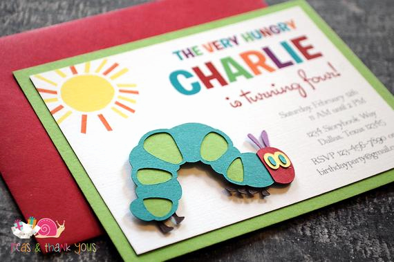 Very Hungry Caterpillar Invitation Template Inspirational Very Hungry Caterpillar Invitations A2 by Peasandthankyous