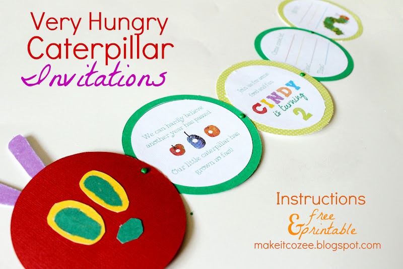 Very Hungry Caterpillar Invitation Template Luxury Make It Cozee Diy Very Hungry Caterpillar Invitations