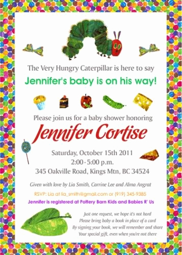 Very Hungry Caterpillar Invitation Template New Very Hungry Caterpillar Baby Shower Diy Printable Invite