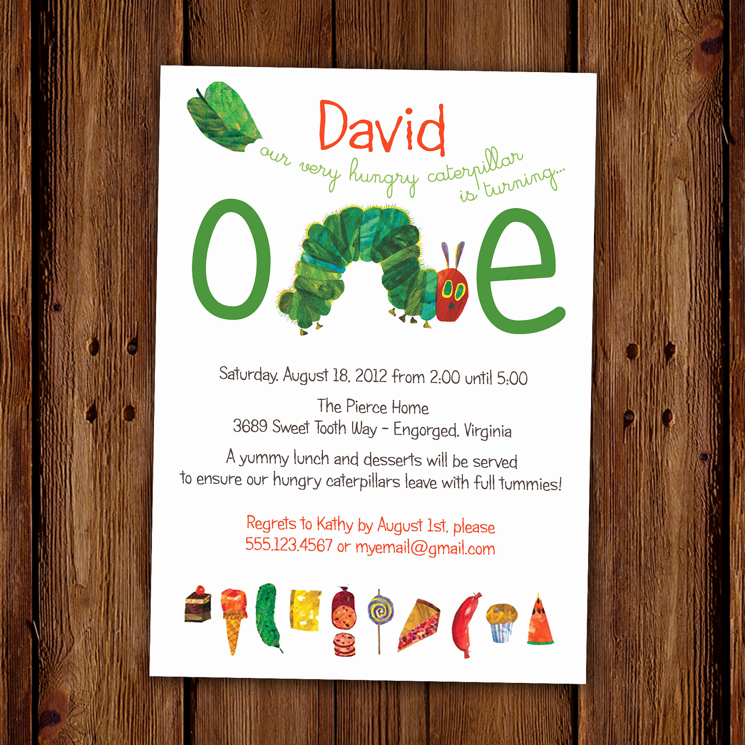 Very Hungry Caterpillar Invitation Template New Very Hungry Caterpillar Invitation Kids by Scriptivapaper