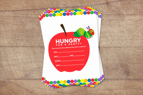 Very Hungry Caterpillar Invitation Template Unique Colorful & Free the Very Hungry Caterpillar Invitations