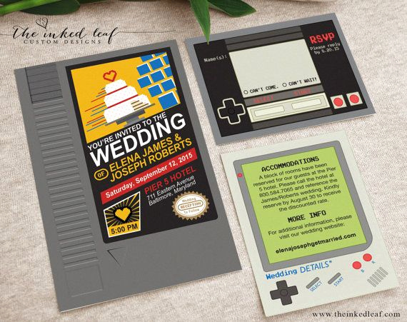 Video Game Wedding Invitation Beautiful 25 Best Ideas About Nes Cartridge On Pinterest