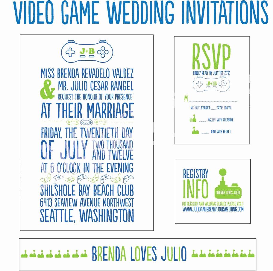 Video Game Wedding Invitation Elegant Video Game Wedding Invitations