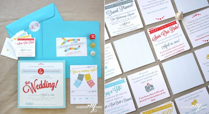 interactive wedding invitations save the dates