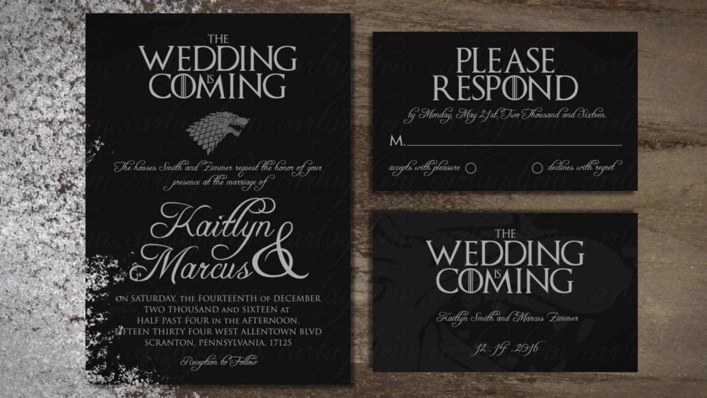 Video Game Wedding Invitation Unique Game Of Thrones Printable Digital Wedding Invitations Invite