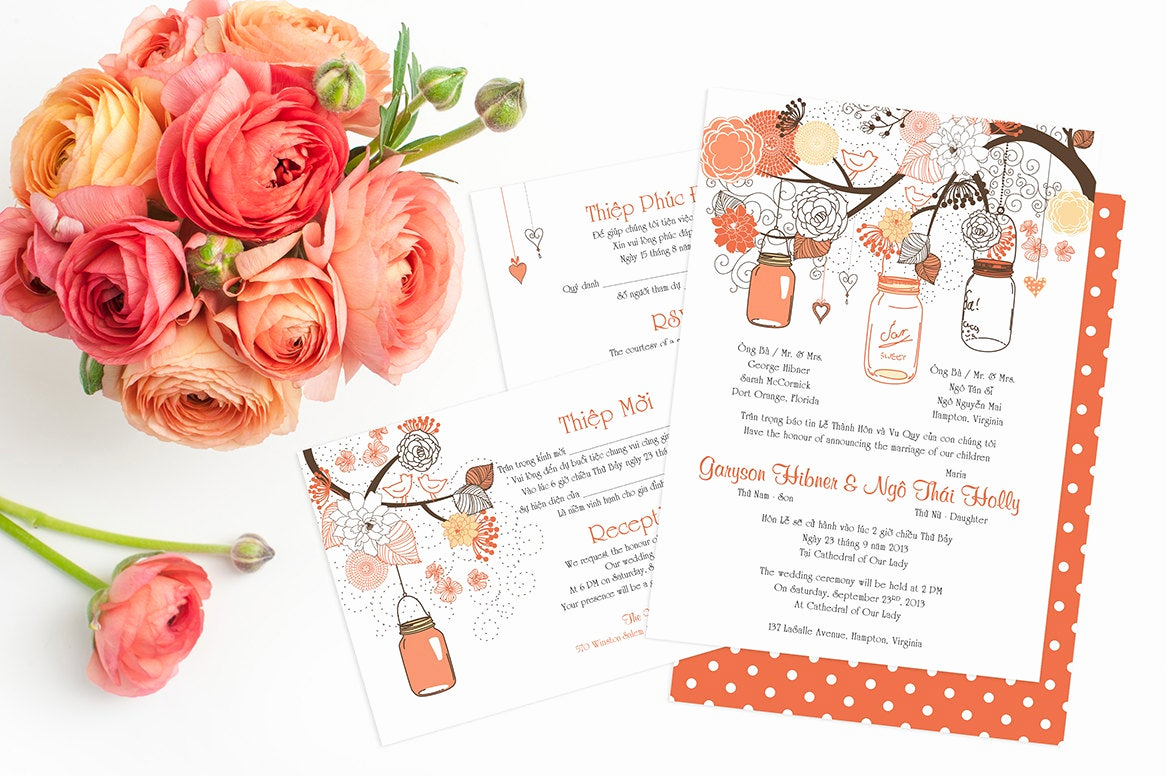 printable bilingual vietnamese wedding
