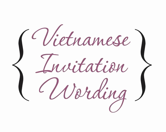 Vietnamese Wedding Invitation Wording Best Of Word Document Bilingual Vietnamese by Invitationsbytiffany