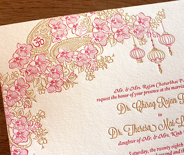 Vietnamese Wedding Invitation Wording Elegant Blending Cultures Customized Invitations Designs