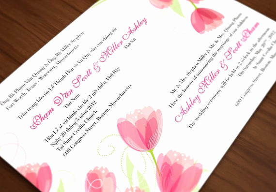 Vietnamese Wedding Invitation Wording Elegant Printable Bilingual Vietnamese Wedding by Invitationsbytiffany