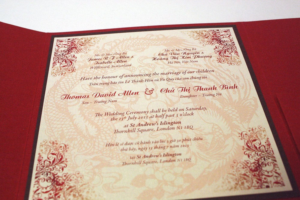 Vietnamese Wedding Invitation Wording Fresh for Kelly Bilingual English and Vietnamese oriental Chinese