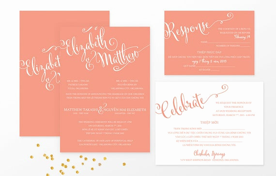sample bilingual vietnamese wedding