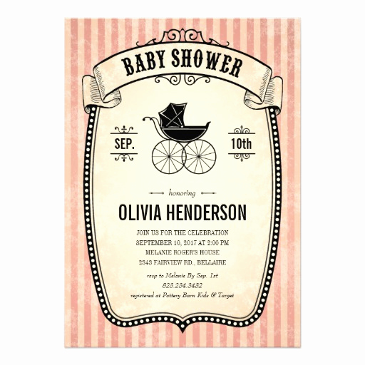 """Vintage Baby Shower Invitation Fresh Victorian Vintage Baby Shower Invitations for Girl 5"""" X 7"""