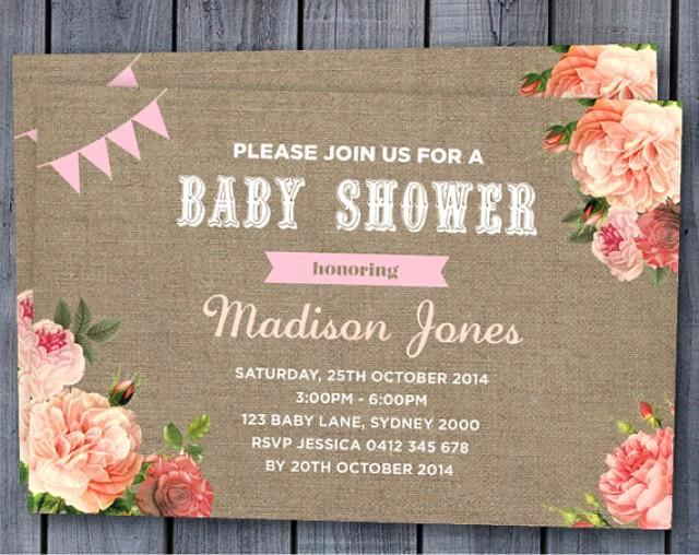 Vintage Baby Shower Invitation Luxury Baby Shower Invitation Birth Announcement Custom Invite