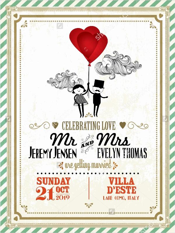 Vintage Wedding Invitation Templates Awesome 21 Vintage Invitation Templates Free Psd Ai Vector