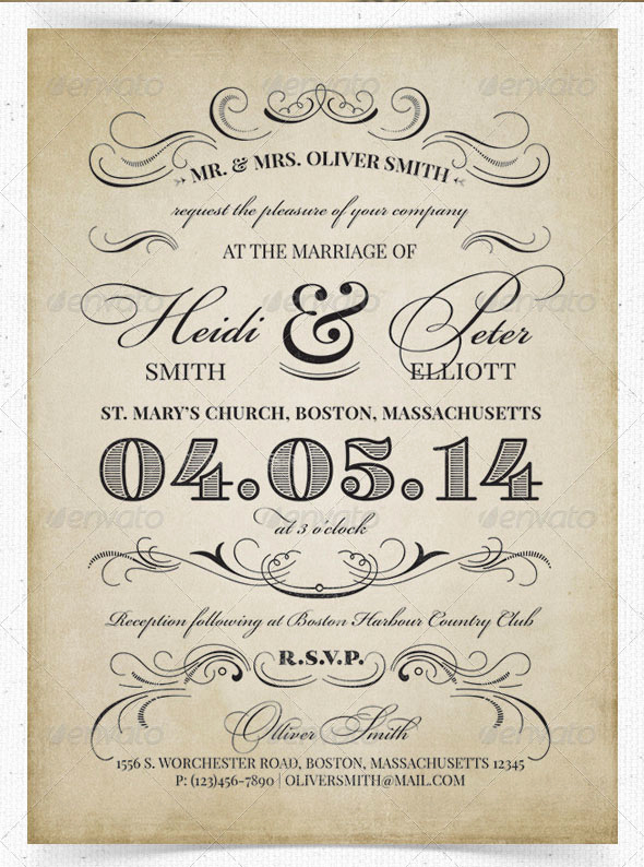 Vintage Wedding Invitation Templates Awesome 75 Free Must Have Wedding Templates for Designers