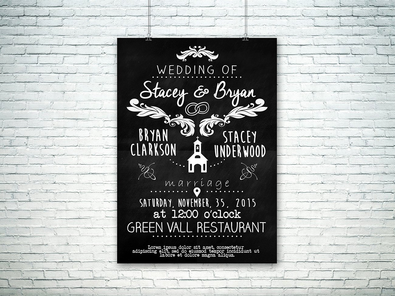 Vintage Wedding Invitation Templates Awesome Vintage Wedding Invitation Template Graphicfy