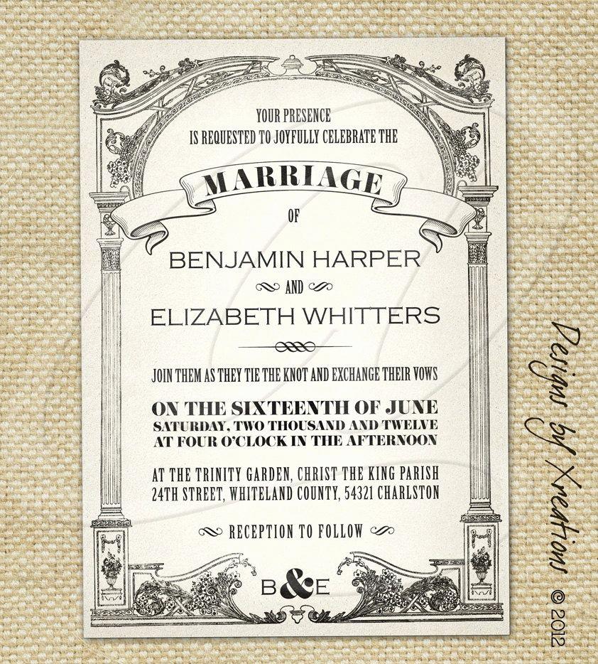 Vintage Wedding Invitation Templates Awesome Vintage Wedding Invitations