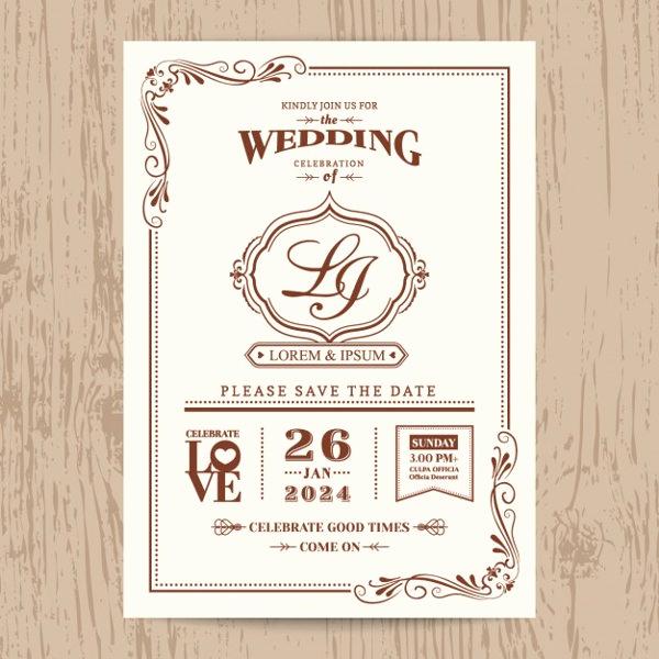 Vintage Wedding Invitation Templates Beautiful 9 Vintage Invitation Templates Psd Eps Ai
