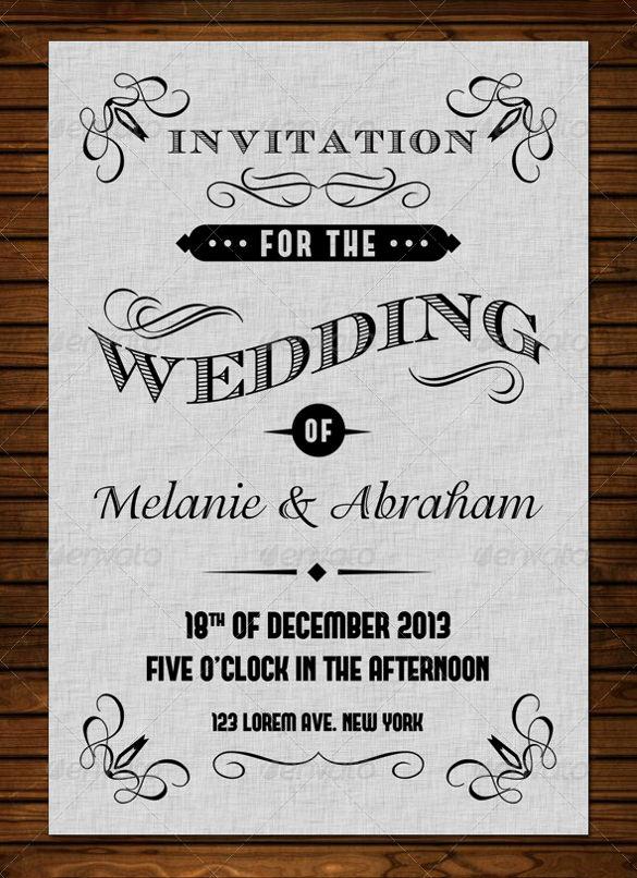 Vintage Wedding Invitation Templates Best Of 24 Vintage Wedding Invitation Templates Psd Ai