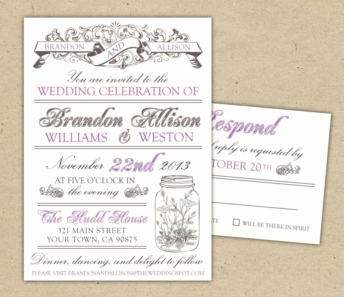 Vintage Wedding Invitation Templates Elegant 30 Unique Vintage Wedding Invitations