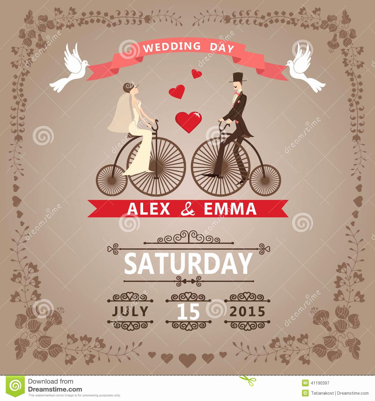 Vintage Wedding Invitation Templates Elegant Vintage Style Wedding Invitation Templates