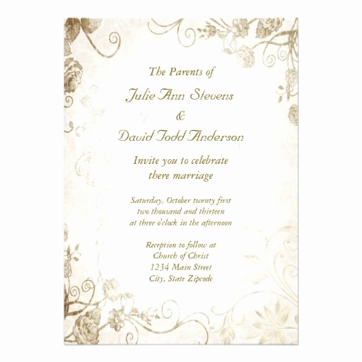 Vintage Wedding Invitation Templates Elegant Vintage Wedding Invitation Template