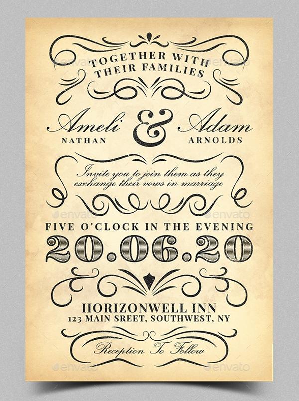 Vintage Wedding Invitation Templates Fresh 21 Vintage Invitation Templates Free Psd Ai Vector