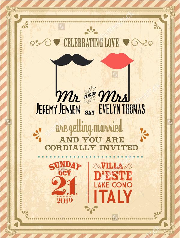 Vintage Wedding Invitation Templates Luxury 38 Simple Wedding Invitation Templates Psd Ai Word