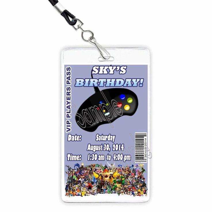 Vip Pass Invitation with Lanyard Fresh Video Game Truck Party Custom Vip Players Pass Invitation