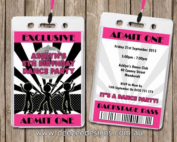 Vip Pass Invitation with Lanyard Inspirational Personalised Disco Vip Lanyard Invitations X 10