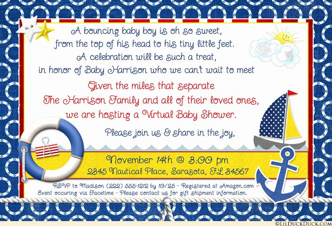 Virtual Baby Shower Invitation Wording Awesome 25 Best Ideas About Virtual Baby Shower On Pinterest