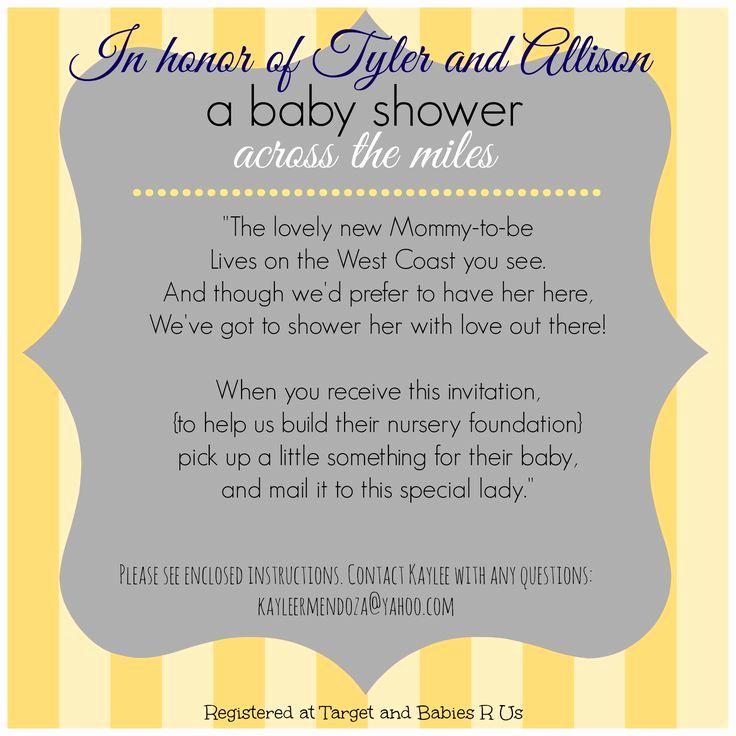 "Virtual Baby Shower Invitation Wording Beautiful Baby Shower ""across the Miles"" [google Search]"