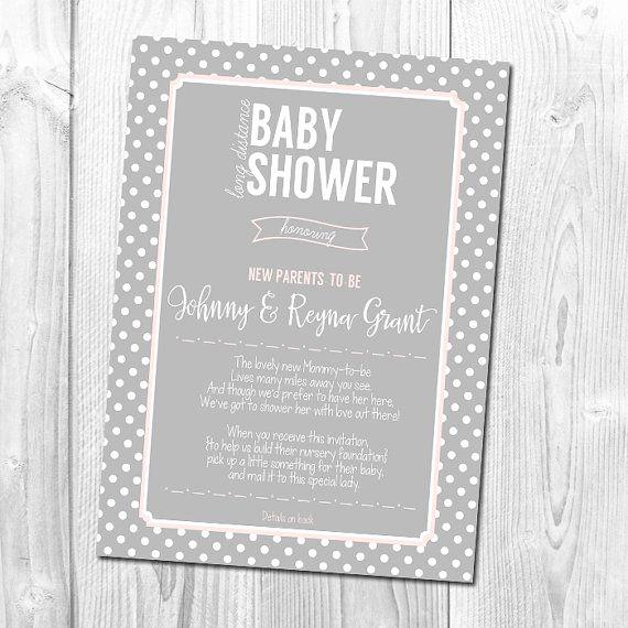 Virtual Baby Shower Invitation Wording Beautiful Long Distance Baby Shower Invitation Wedding