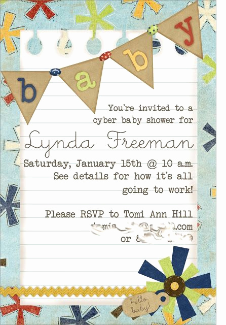 Virtual Baby Shower Invitation Wording Fresh Just What I Squeeze In Long Distance Baby Shower