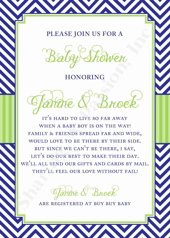 Virtual Baby Shower Invitation Wording Lovely Long Distance Baby Shower Invitation Shower by