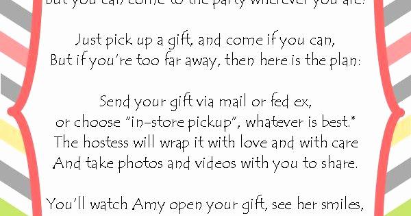Virtual Baby Shower Invitation Wording Luxury Long Distance Baby Shower Invitation I Wrote This Cute