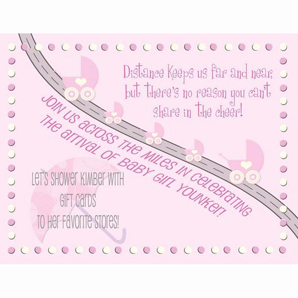 Virtual Baby Shower Invitation Wording Unique Baby Shower Invitation Long Distance Boy or Girl $40 00
