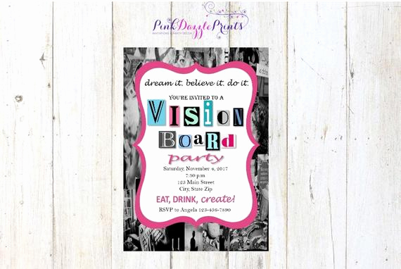 Vision Board Party Invitation Awesome 5x7 Printable Vision Board Party Invitation Digital File